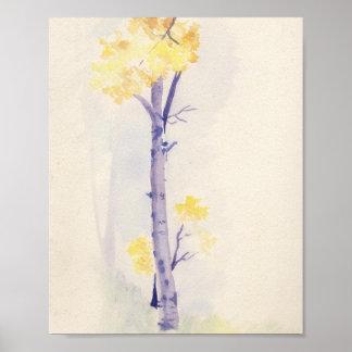 Birch Tree Print 8x10