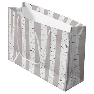 Birch Tree Rustic Woodland Large Gift Bag