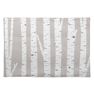 Birch Tree Rustic Woodland Placemat