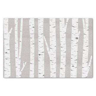 Birch Tree Rustic Woodland Tissue Paper