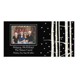 Birch Tree Snowfall Photo Greeting Card