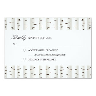 Birch Tree Wedding RSVP Card