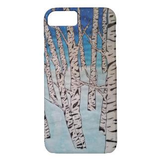 Birch Tree Winter Forest iPhone 7 Case