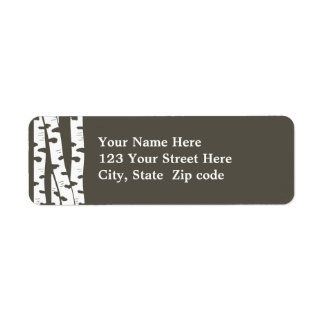 Birch Trees Address or Gift tag Return Address Label