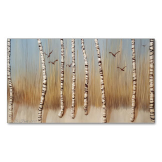 Birch Trees In Winter Magnetic Business Card