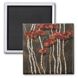 Birch Trees In Woods Magnet