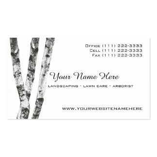 Birch Trees Landscape Arborist Pack Of Standard Business Cards