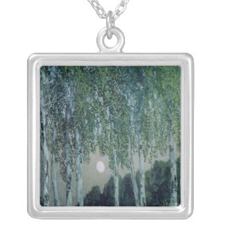 Birch Trees Silver Plated Necklace