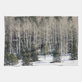 Birch trees snow landscape White Towel