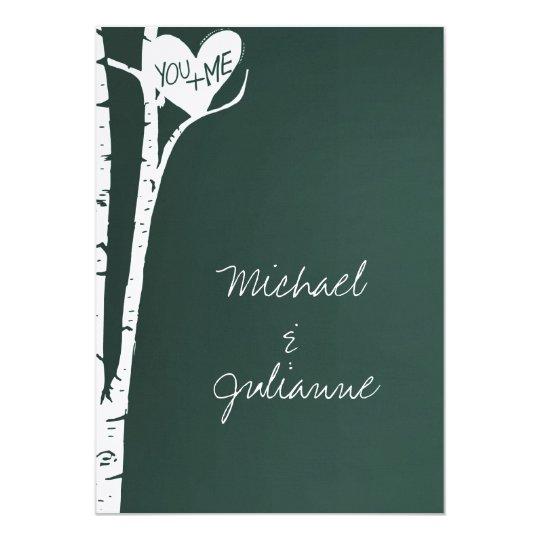 Birch Trees Wedding Card