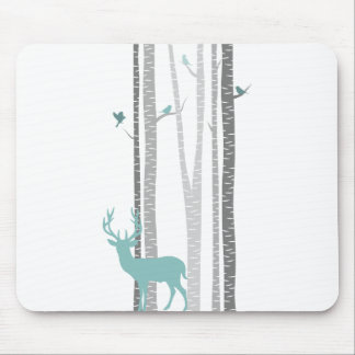 Birch Trees with Deer Mouse Mat
