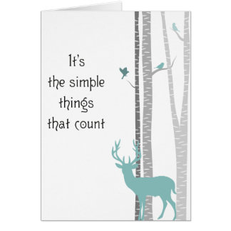 Birch Trees with Deer Simple Things Count Cards