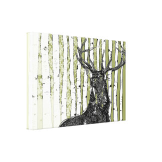 Birch Trees You Choose Background Color Gallery Wrap Canvas
