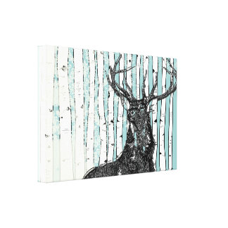 Birch Trees You Choose Background Color Canvas Print