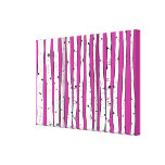 Birch Trees You Choose Background Colour Canvas Prints