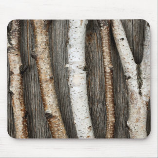 Birch trunks mouse pad