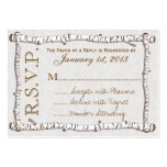Birch Woods Rustic RSVP Cards (pk 100) Pack Of Chubby Business Cards