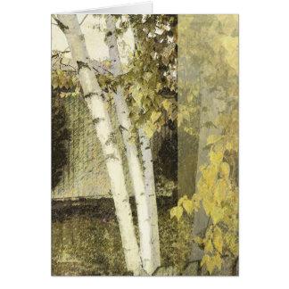 Birches Harmony 1 Greeting Card