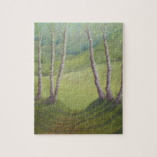 Birches in Spring, Walton Heath Jigsaw Puzzle