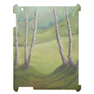 Birches in Spring, Walton Heath, Surrey iPad Case