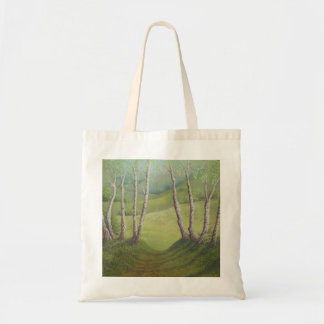 Birches in Spring, Walton Heath, Surrey Tote Bag