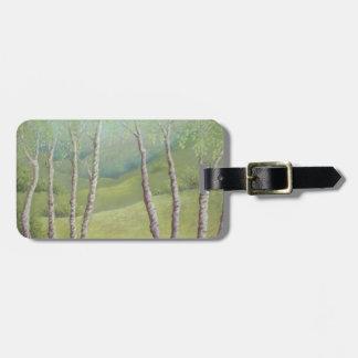 Birches in Springtime Walton Heath, Pastel Luggage Tag