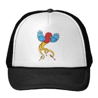 Bird 3 ~ Vintage Forties Tattoo Bird Art Trucker Hat