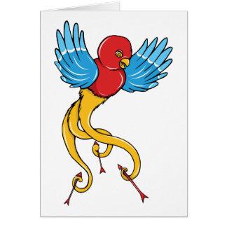 Bird 3 ~ Vintage Forties Tattoo Bird Art Greeting Card