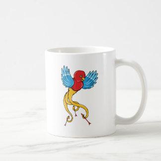 Bird 3 ~ Vintage Forties Tattoo Bird Art Coffee Mugs