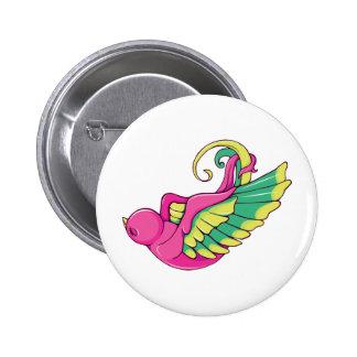 Bird 4 ~ Vintage Forties Tattoo Bird Art Pinback Button