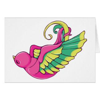 Bird 4 ~ Vintage Forties Tattoo Bird Art Greeting Card