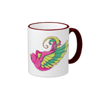 Bird 4 ~ Vintage Forties Tattoo Bird Art Mugs