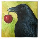 Bird 55 crow raven carreau