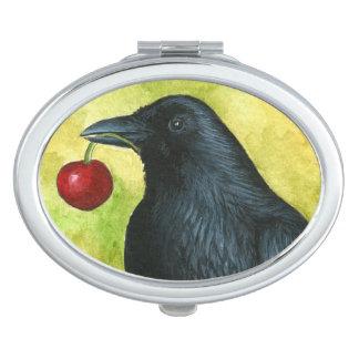 Bird 55 crow raven compact mirrors