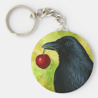 Bird 55 crow raven key ring