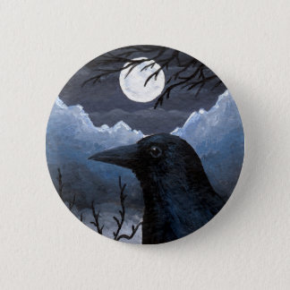 Bird 58 Crow Raven 6 Cm Round Badge