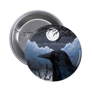 Bird 58 Crow Raven 6 Cm Round Badge
