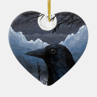 Bird 58 Crow Raven Christmas Ornament
