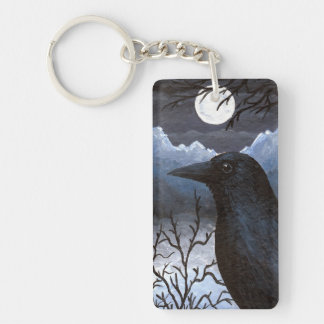 Bird 58 Crow Raven Key Ring