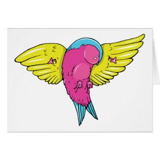 Bird 5 ~ Vintage Forties Tattoo Bird Art Greeting Card