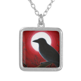 Bird 62 Crow Raven Silver Plated Necklace