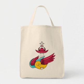 Bird 7 ~ Vintage Forties Tattoo Bird Art Canvas Bags