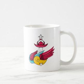 Bird 7 ~ Vintage Forties Tattoo Bird Art Coffee Mugs