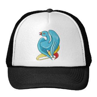 Bird 9 ~ Vintage Forties Tattoo Bird Art Trucker Hat