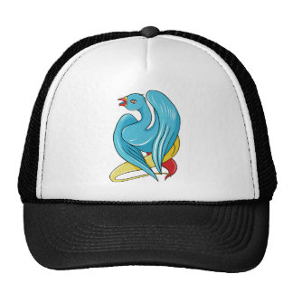 Bird 9 ~ Vintage Forties Tattoo Bird Art Mesh Hats