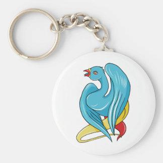 Bird 9 ~ Vintage Forties Tattoo Bird Art Key Chains