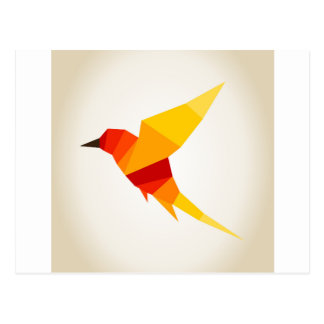 Bird abstraction4 postcard