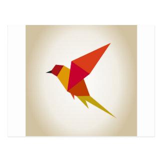 Bird abstraction postcard