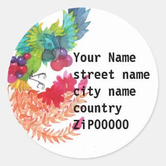 Bird Address Label Round Sticker