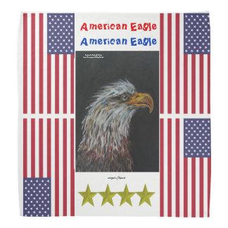 Bird american eagle head up worldwide bandana